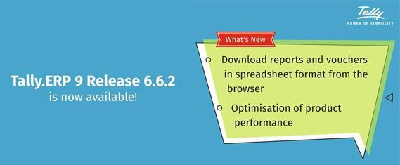 Tally.ERP 9 Release 6.6.2